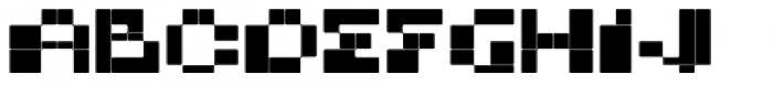 BD Micron Font Extended Font UPPERCASE