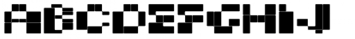 BD Micron Font Extended Font LOWERCASE