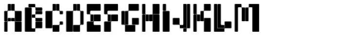 BD Micron Font Regular Font LOWERCASE