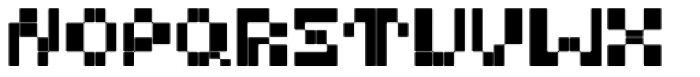 BD Micron Font Semi-Extended Font UPPERCASE