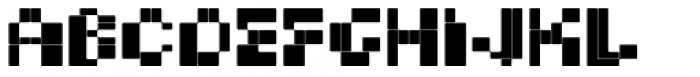 BD Micron Font Semi-Extended Font LOWERCASE