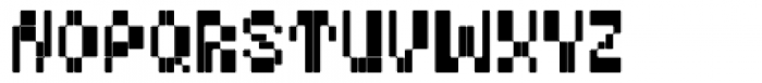 BD Micron Font Variable Font LOWERCASE