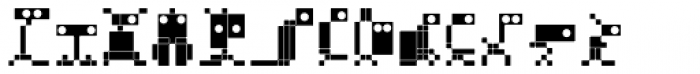 BD Micron Robots Muta5 Font UPPERCASE