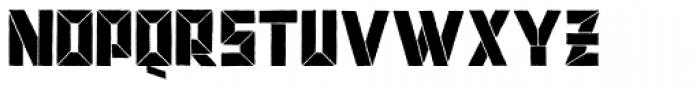 BDSchablone Font LOWERCASE