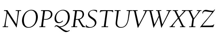 BerkeleyStd-BookItalic Font UPPERCASE