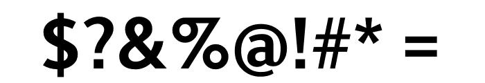 Berlingske Sans Bold Font OTHER CHARS