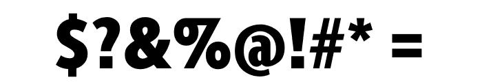 Berlingske Sans Condensed Black Font OTHER CHARS