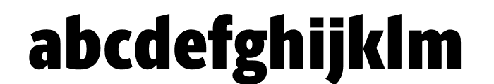 Berlingske Sans Condensed Black Font LOWERCASE