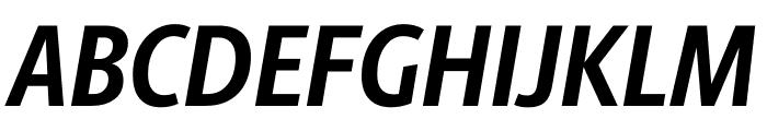 Berlingske Sans Condensed Bold Italic Font UPPERCASE