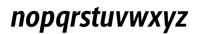 Berlingske Sans Condensed Bold Italic Font LOWERCASE