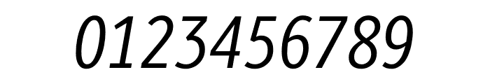Berlingske Sans Condensed Italic Font OTHER CHARS