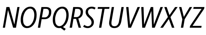 Berlingske Sans Condensed Italic Font UPPERCASE