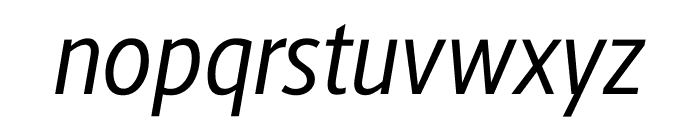 Berlingske Sans Condensed Italic Font LOWERCASE