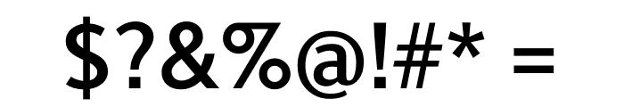 Berlingske Sans Demi Bold Font OTHER CHARS
