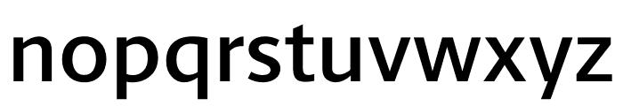 Berlingske Sans Demi Bold Font LOWERCASE