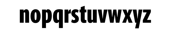 Berlingske Sans Extra condensed Extra Bold Font LOWERCASE