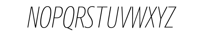 Berlingske Sans Extra condensed Thin Italic Font UPPERCASE