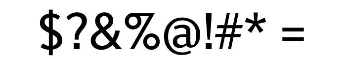 Berlingske Sans Medium Font OTHER CHARS
