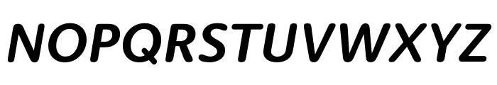 Berlingske Sans Round Bold Italic Font UPPERCASE