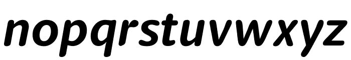 Berlingske Sans Round Bold Italic Font LOWERCASE