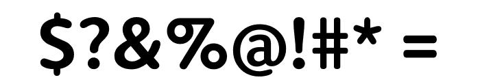 Berlingske Sans Round Bold Font OTHER CHARS