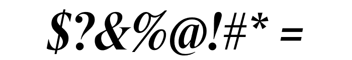 Berlingske Serif Condensed Demi Bold Italic Font OTHER CHARS