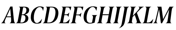 Berlingske Serif Condensed Demi Bold Italic Font UPPERCASE