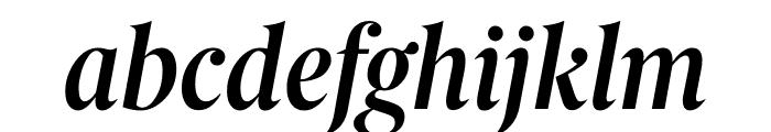 Berlingske Serif Condensed Demi Bold Italic Font LOWERCASE