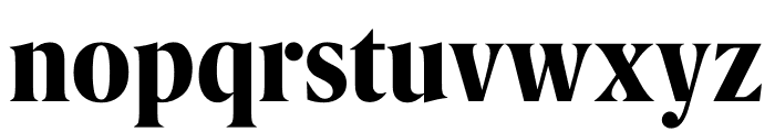 Berlingske Serif Condensed Extra Bold Font LOWERCASE