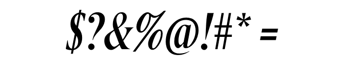 Berlingske Serif Extra condensed Italic Font OTHER CHARS