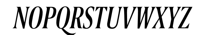 Berlingske Serif Extra condensed Italic Font UPPERCASE