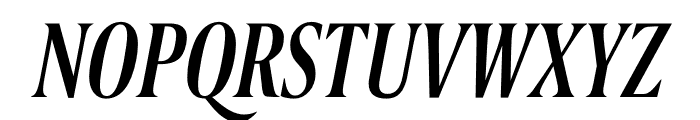 Berlingske Serif Extra condensed Medium Italic Font UPPERCASE