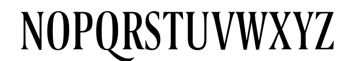Berlingske Serif Extra condensed Regular Font UPPERCASE