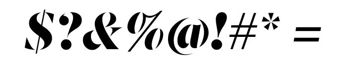 Berlingske Serif Stencil Black Italic Font OTHER CHARS