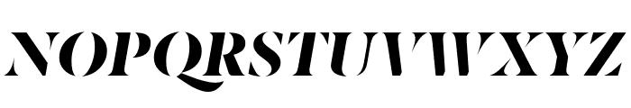 Berlingske Serif Stencil Black Italic Font UPPERCASE
