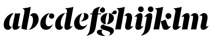 Berlingske Serif Stencil Black Italic Font LOWERCASE