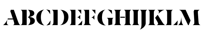 Berlingske Serif Stencil Black Font UPPERCASE