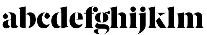 Berlingske Serif Stencil Black Font LOWERCASE