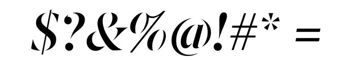 Berlingske Serif Stencil Demi Bold Italic Font OTHER CHARS