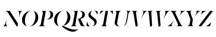 Berlingske Serif Stencil Demi Bold Italic Font UPPERCASE
