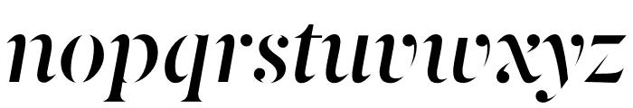 Berlingske Serif Stencil Demi Bold Italic Font LOWERCASE