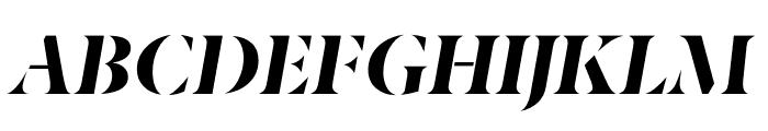 Berlingske Serif Stencil Extra Bold Italic Font UPPERCASE