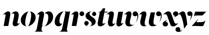 Berlingske Serif Stencil Extra Bold Italic Font LOWERCASE