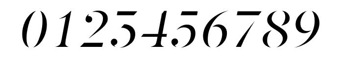Berlingske Serif Stencil Italic Font OTHER CHARS
