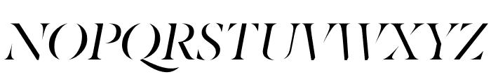 Berlingske Serif Stencil Italic Font UPPERCASE