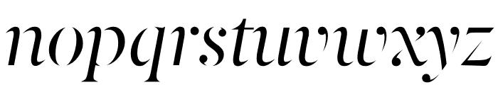 Berlingske Serif Stencil Italic Font LOWERCASE