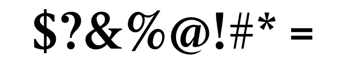 Berlingske Serif Text Demi Bold Font OTHER CHARS