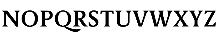 Berlingske Serif Text Demi Bold Font UPPERCASE