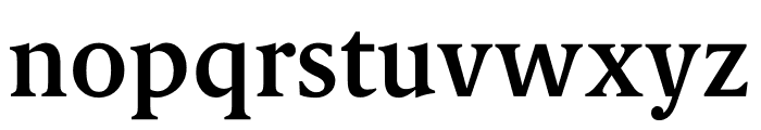 Berlingske Serif Text Demi Bold Font LOWERCASE