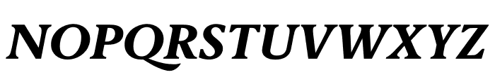 Berlingske Serif Text Extra Bold Italic Font UPPERCASE